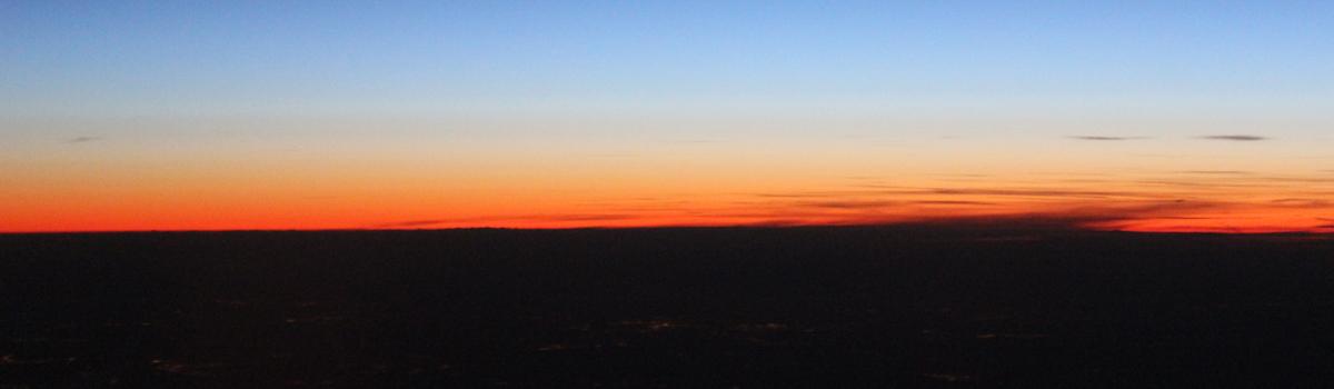 Solnedgang i horizonten